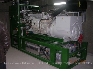 small scale AD - biogas engine