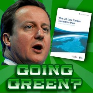 UK Low Carbon Transition Plan summary article Cameron graphic