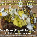 Meme which explains Detroit Zoo biogas from elephant crap