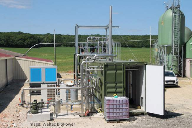 Weltec biogas to biomethane purification