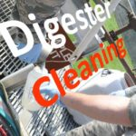Sampling-during digester cleaning work