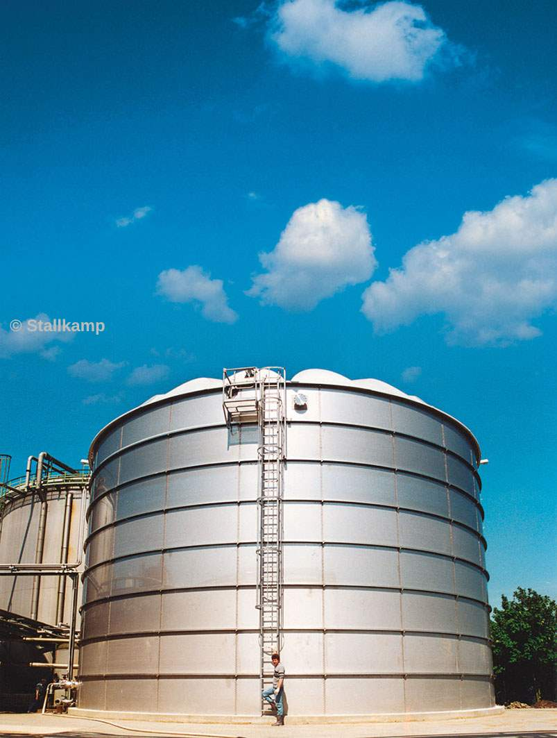 Large Stainless Steel Tanks With Long Design Life For Wastewater Biogas Plant Diagram Anaerobic Digester Blog One Of Stallkamps Very A Stallkamp Tank Self Supporting Ribbed Dome Roof Click Image To Enlarge