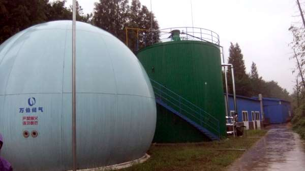 Image shows Landia's GasMix gas mixing in China, providing efficient Biogas Substrate Mixing.