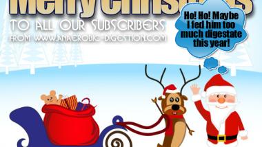The anaerobic reindeer christmas card, biogas christmas card, IPPTS Associates Christmas card