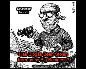 Robber-cartoon - Just what is biogas hijacked?