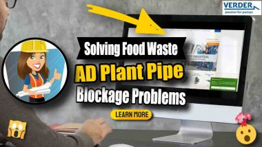 """Image text: """"Solving AD plant pipe blockage problems""""."""