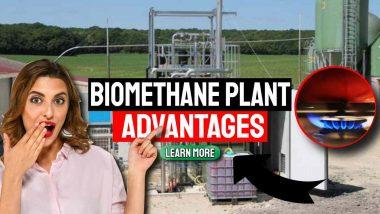 "Image text: ""Biomethane Plant Advantages""."