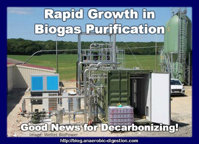 Weltec biogas to biomethane purification