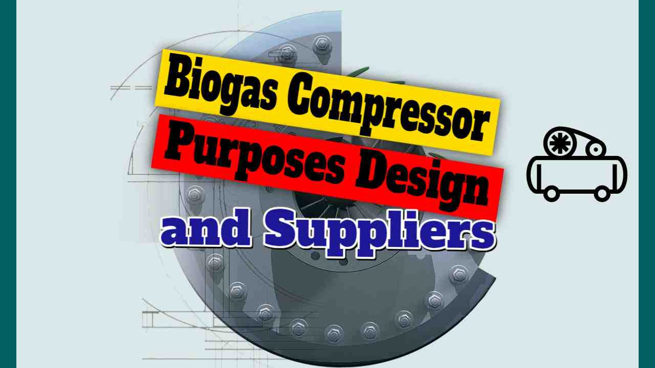 """Image text: """"Biogas Compressor Purpose Design and Suppliers""""."""