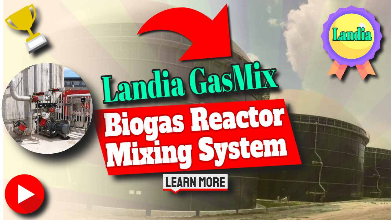 "Image text: ""Landia Biogas Reactor Mixing System Update""."