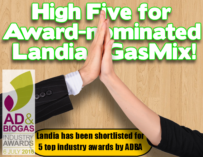 Image shows Landia GasMix award-nominated high-five hands!
