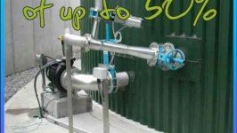 Image says that Landia biogas plant mixers save money