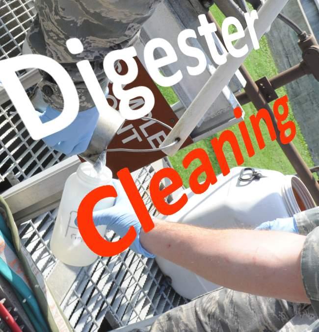 Sampling-during digester cleaning work