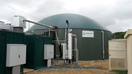 Weltec Biopower Anaerobic Digestion Plant France