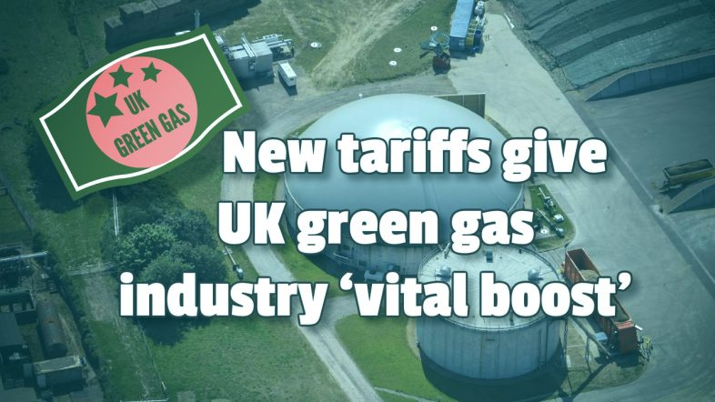 Image to show how new tariffs will give green gas industry 'vital boost'.