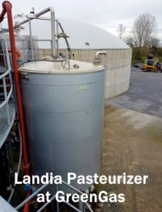 Image shows the Landia pasteuriser at GreenGas.
