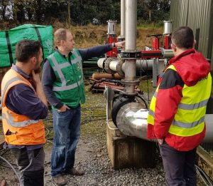 Image shows the biogas digester design enhancing Landia GasMix mixer system.