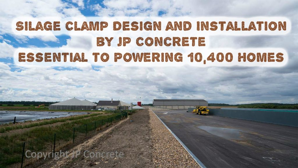 Image shows Silage Clamp Design and Installation by JP Concrete.