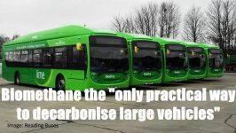 Biomethane buses Reading UK an advantage of biogas biomethane illustrated.