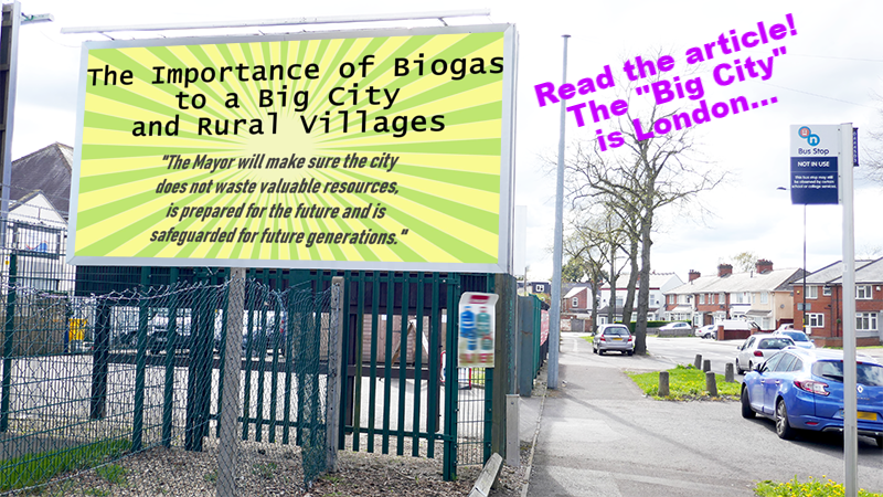Image illustrates our article about the importance of biogas for London.