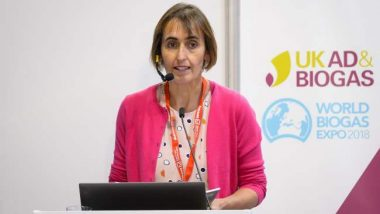 Charlotte Morton presents on biogas future prospects