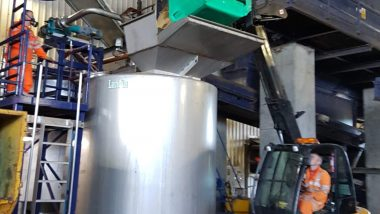Image shows fish waste ensiling before ABP Pasteurization.