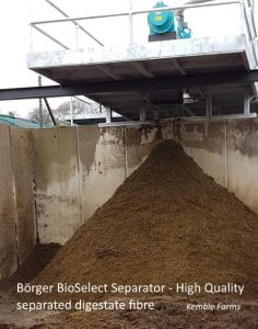 Image shows the high quality digestate fibre the Borger manure separator produces.