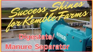 Image explains the article: Börger bioselect manure separator shines