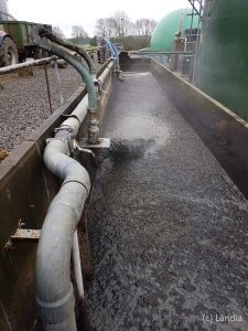 Irish biogas plants, grass lower gas yield than maize Landia.