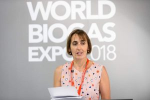 Image shows Charlotte Morton, Chief Executive of the Anaerobic Digestion & Bioresources Association which calls for AD Contracts for Difference Scheme for renewable energy.