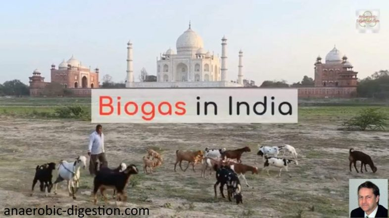 Image to illustrate the development of biogas in India, the biogas industry, and anaerobic digestion.