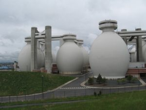 What is Biogas? Image shows a plant where it is made.