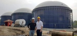 A biogas digester mixing with Landia GasMix