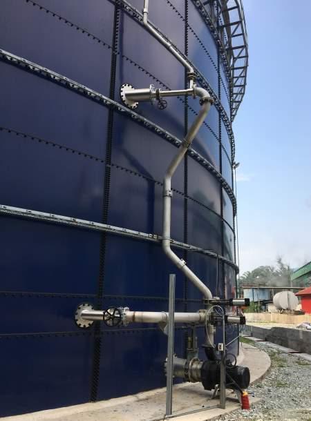 A biogas digester external mixer Landia GasMix.