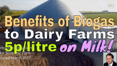 Benefits of the biogas production process to dairy farms can be 5p/litre on milk revenue.