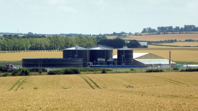 The Bygrave Lodge anaerobic digestion (AD) plant UK (Food Waste) - CC BY-SA by Peter O'Connor aka anemoneprojectors