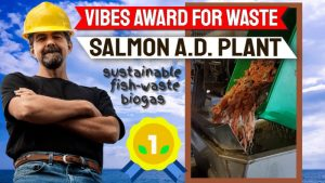 Image illustrates Scottish Fish waste biogas award.