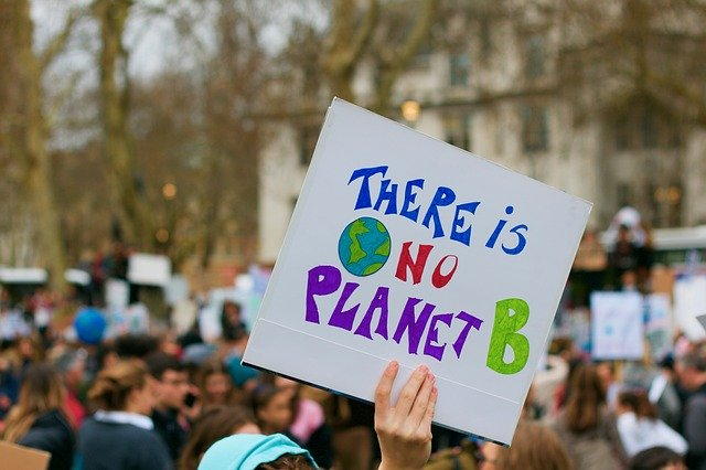 Image shows placard saying there is no Planet B (climate emergency plan B)
