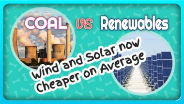 "Image illustrates the article on: ""is coal cheaper than renewable energy""."