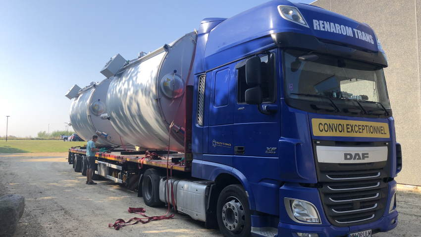 Image shows: Landias pasteurizers bound for Romania, where they will eliminate biohazards at a new waste-to-energy plant.
