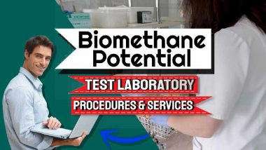 """Featured image text: """"Biomethane Potential Test Laboratory Services""""."""