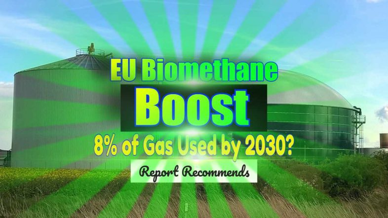 "Featured Image text: ""EU Biomethane Boost to Gas Use""."