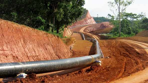 Image is an example of the work of a pipeline service provider at work.