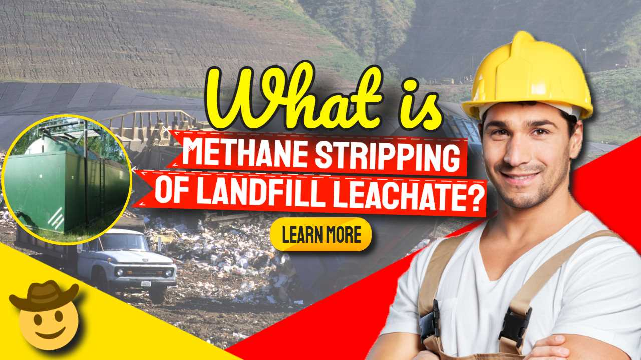 """Featured image text: """"What is methane stripping of landfill leachate""""."""