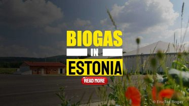 """Image text: """"Biogas in Estonia showing an Envitech Plant""""."""