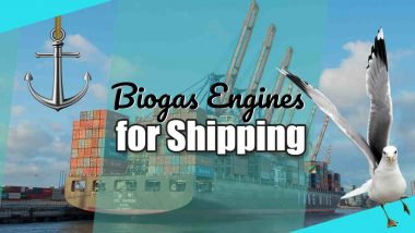 First shipping fleet to use green biogas fuel.