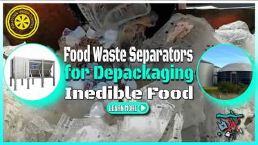 """Image text: """"Food waste separator and depackager""""."""
