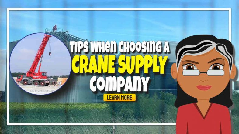 """Image text: """"Tips When Choosing a Crane Supply Company""""."""