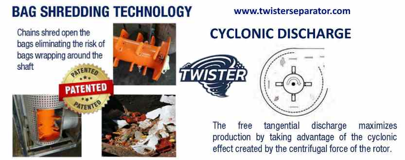 Features of the Twister food separator.