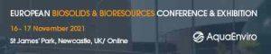 AquaEnviro Biosolids 2021 Conference partner AD Banner